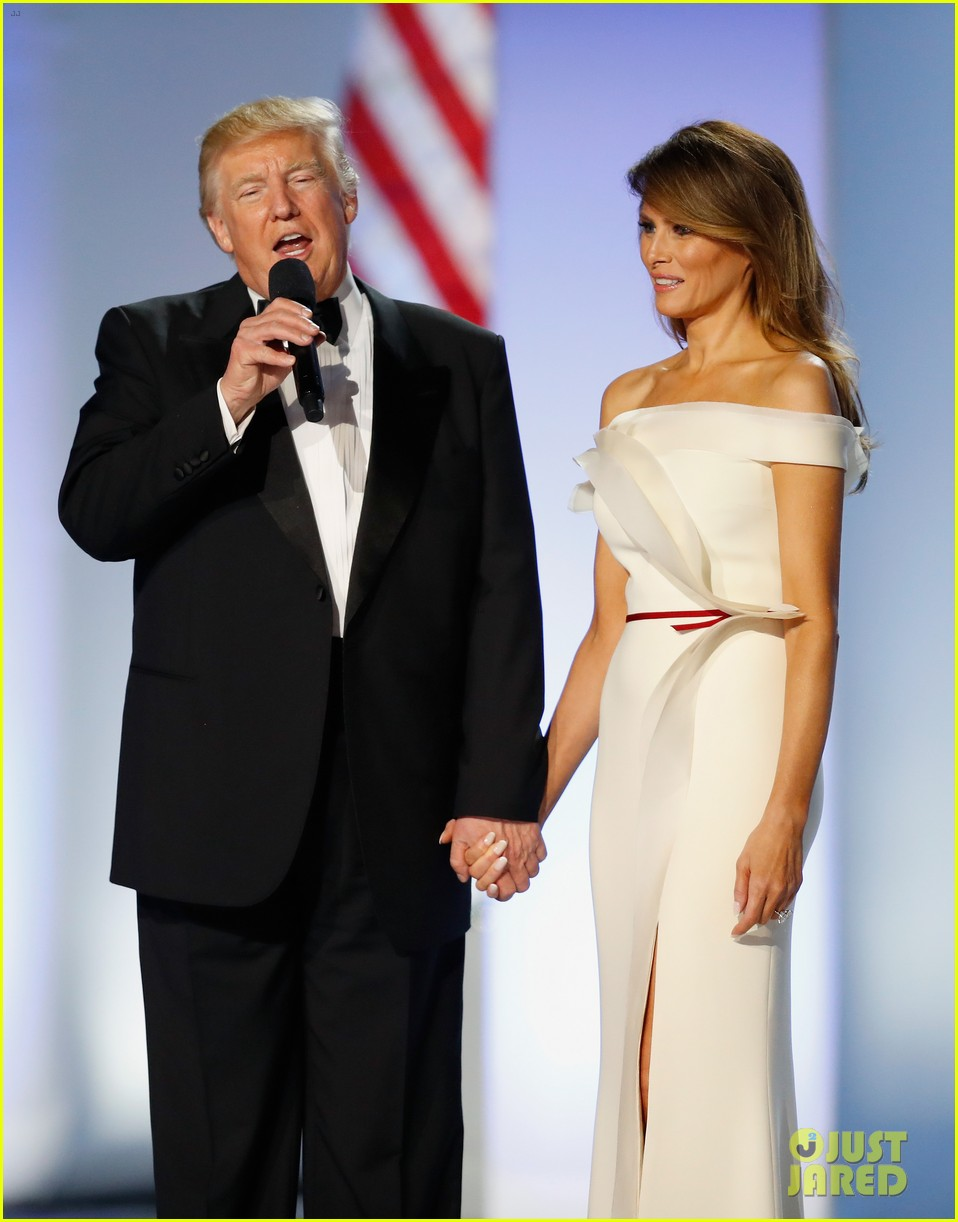 who designed melania trump inaugural ball gown 063845483