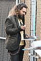 jason momoa shows off his axe throwing skills on jimmy kimmel live 17