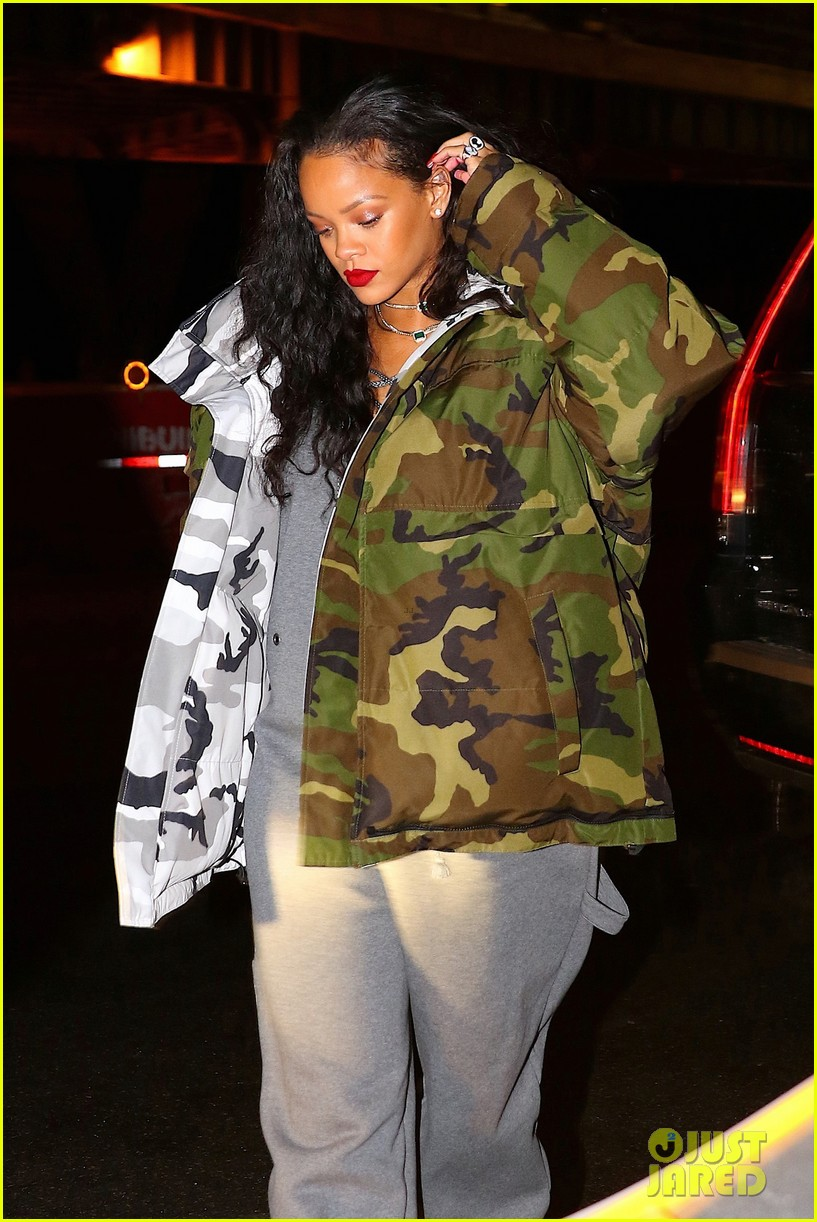 rihanna bundles up for night out in weho 033840811
