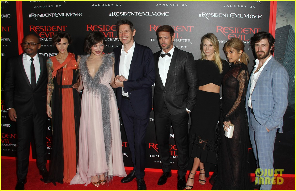 ruby rose joins milla jovovich family at resident evil l a premiere 033846989