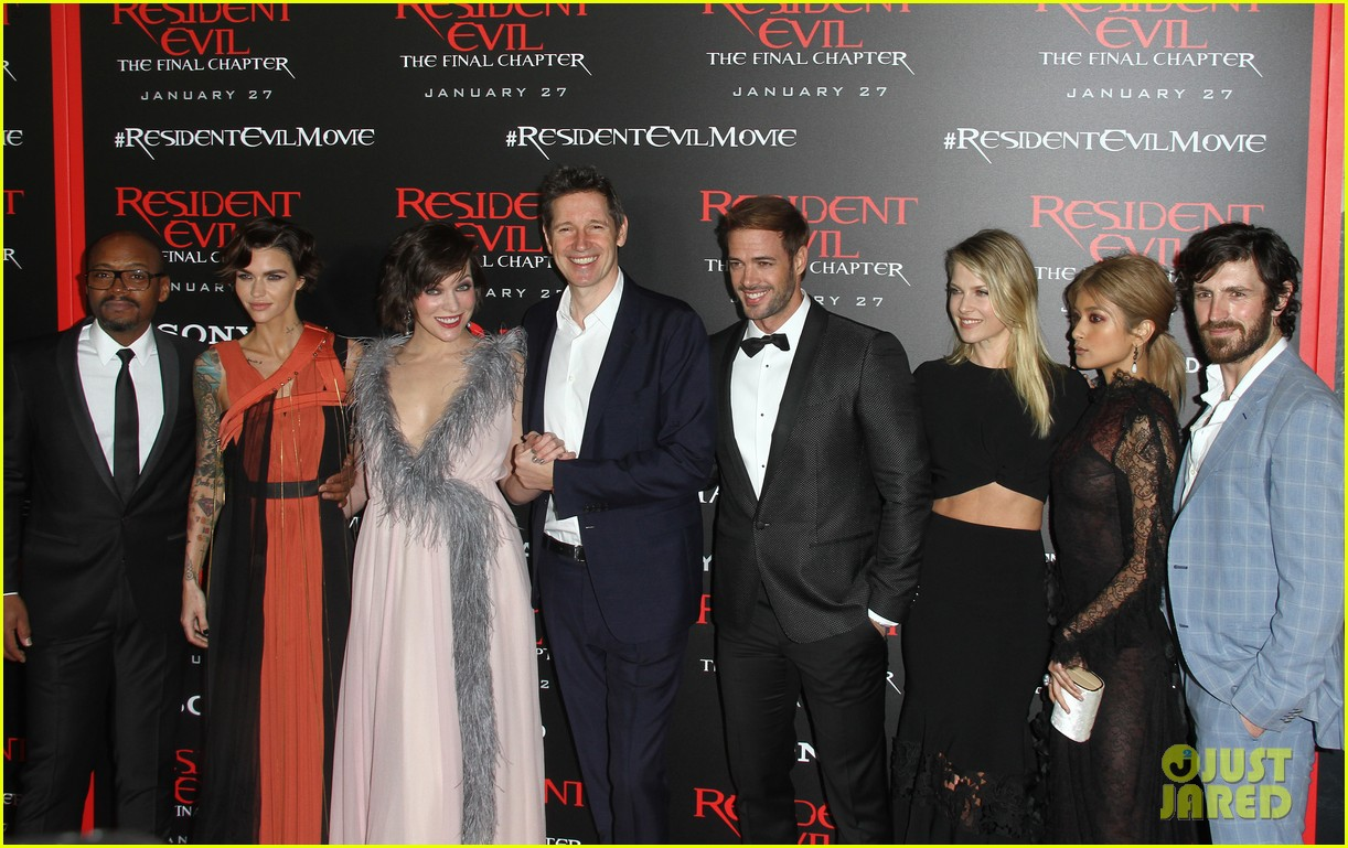 ruby rose joins milla jovovich family at resident evil l a premiere 233847009