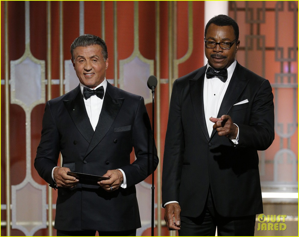sylvester stallone carl weathers golden globes 2017 043839486