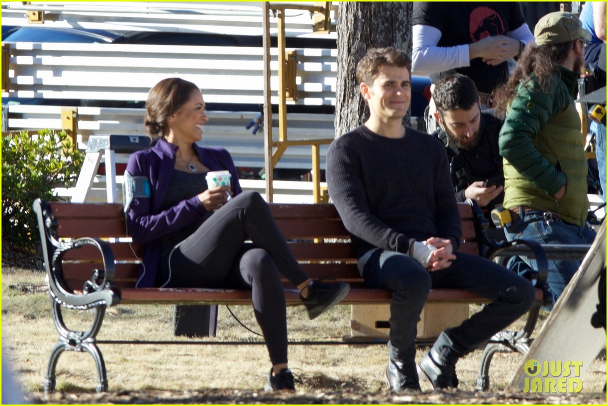 paul wesley kat graham continue filming vampire diaries 053848428