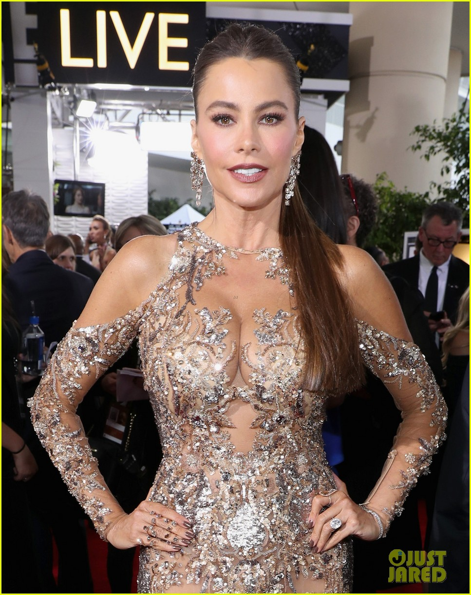 sofia vergaras red carpet dress steals the show at golden globes 053839085