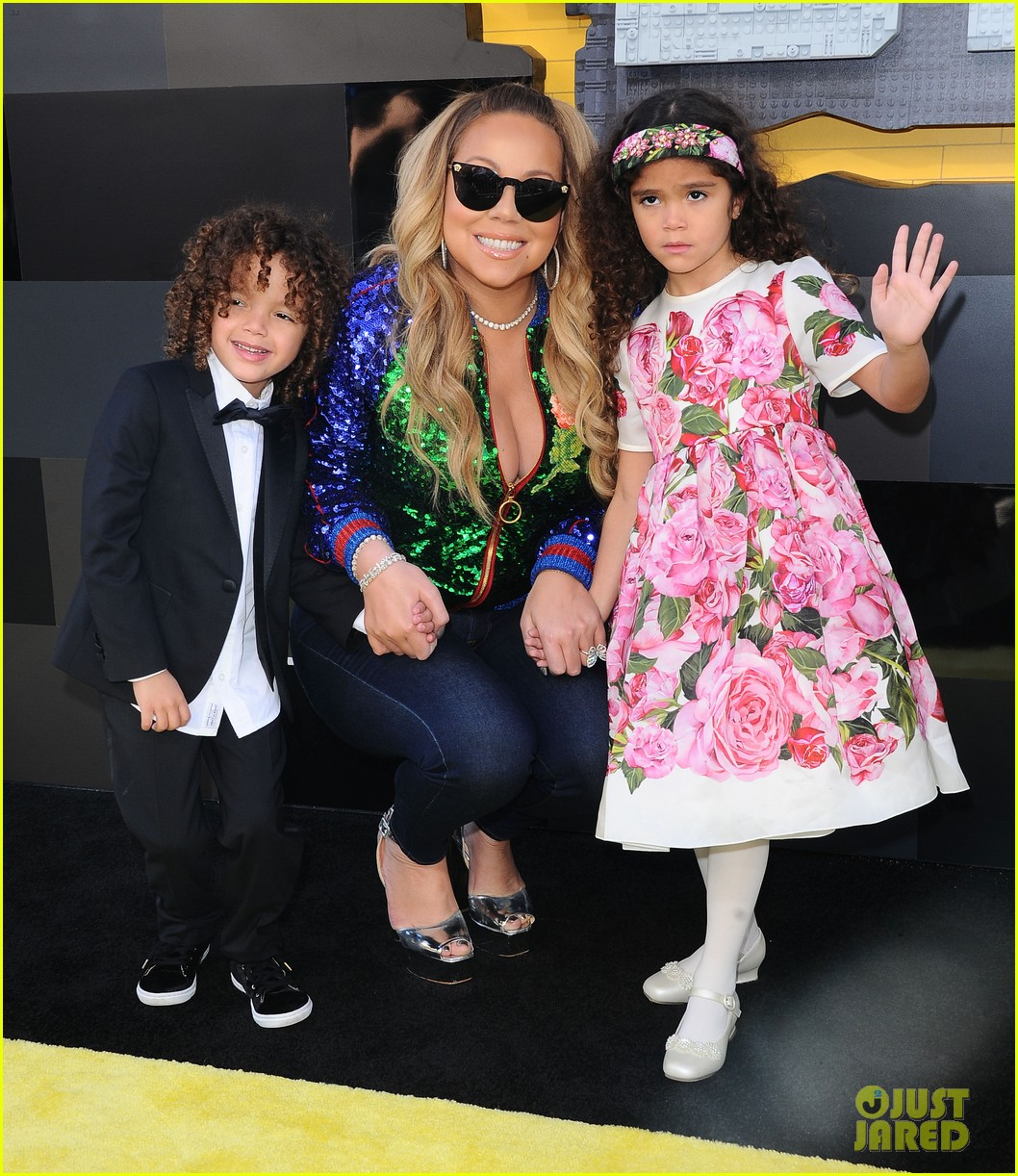 mariah carey brings twins to lego movie premiere 023852751