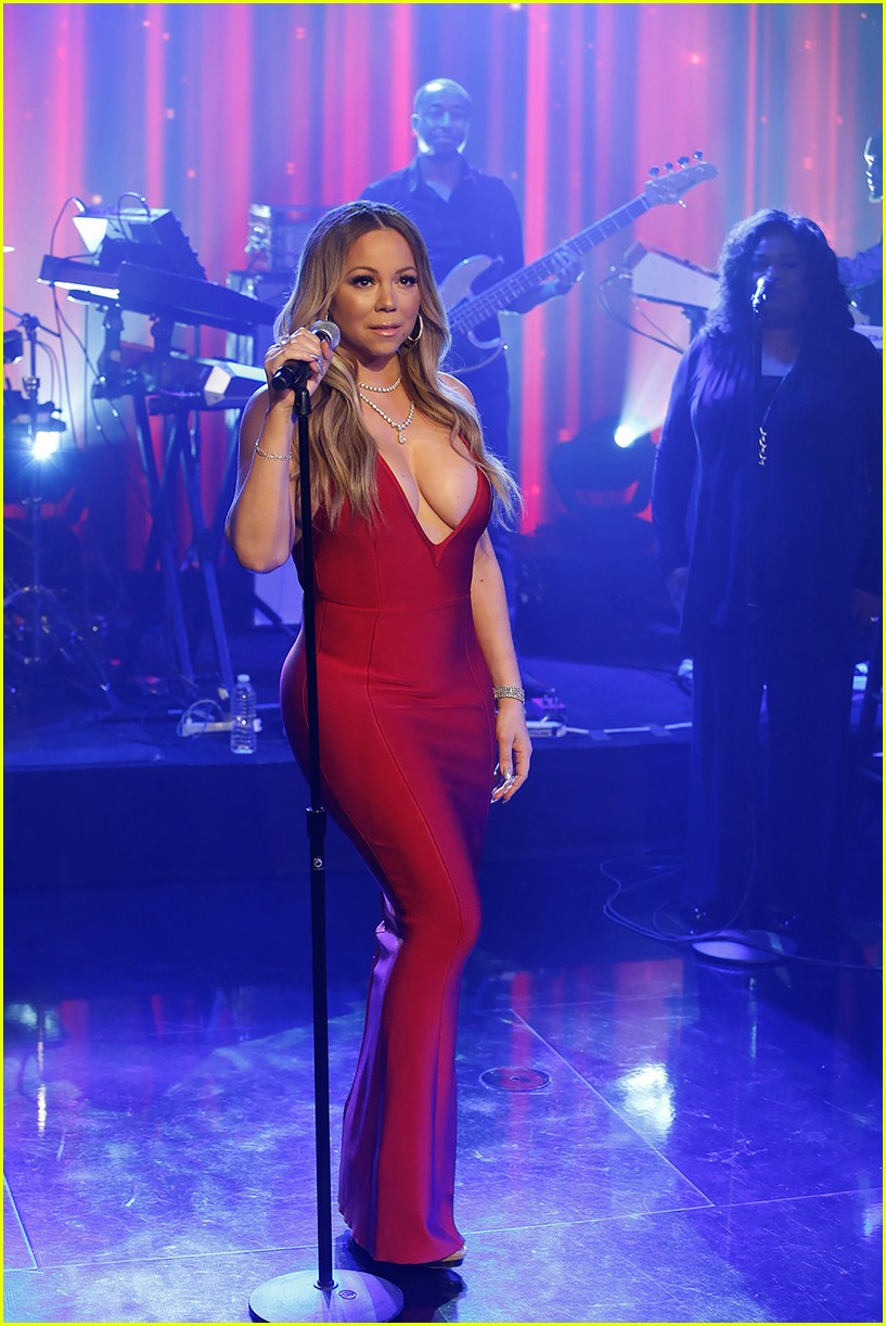 mariah carey performs vision of love live on kimmel