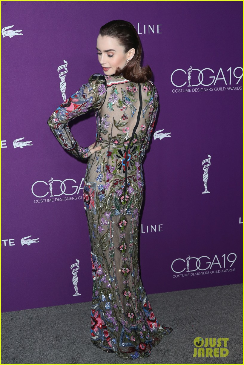 lily collins matt bomer costume designers guild awards 093863596