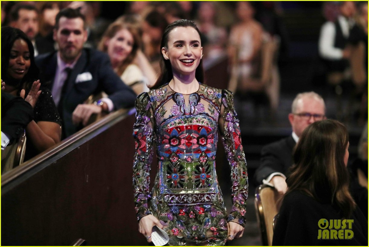 lily collins matt bomer costume designers guild awards 183863605