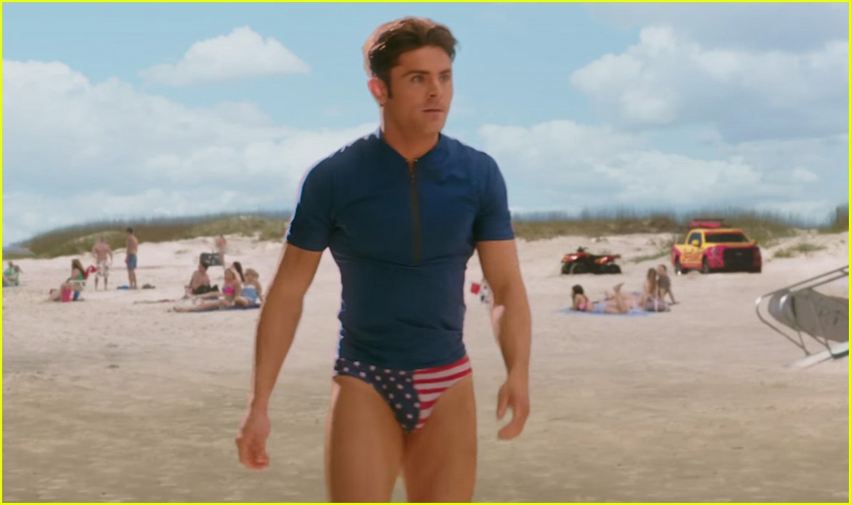 Zac Efron Strips To Speedo In Baywatch Super Bowl