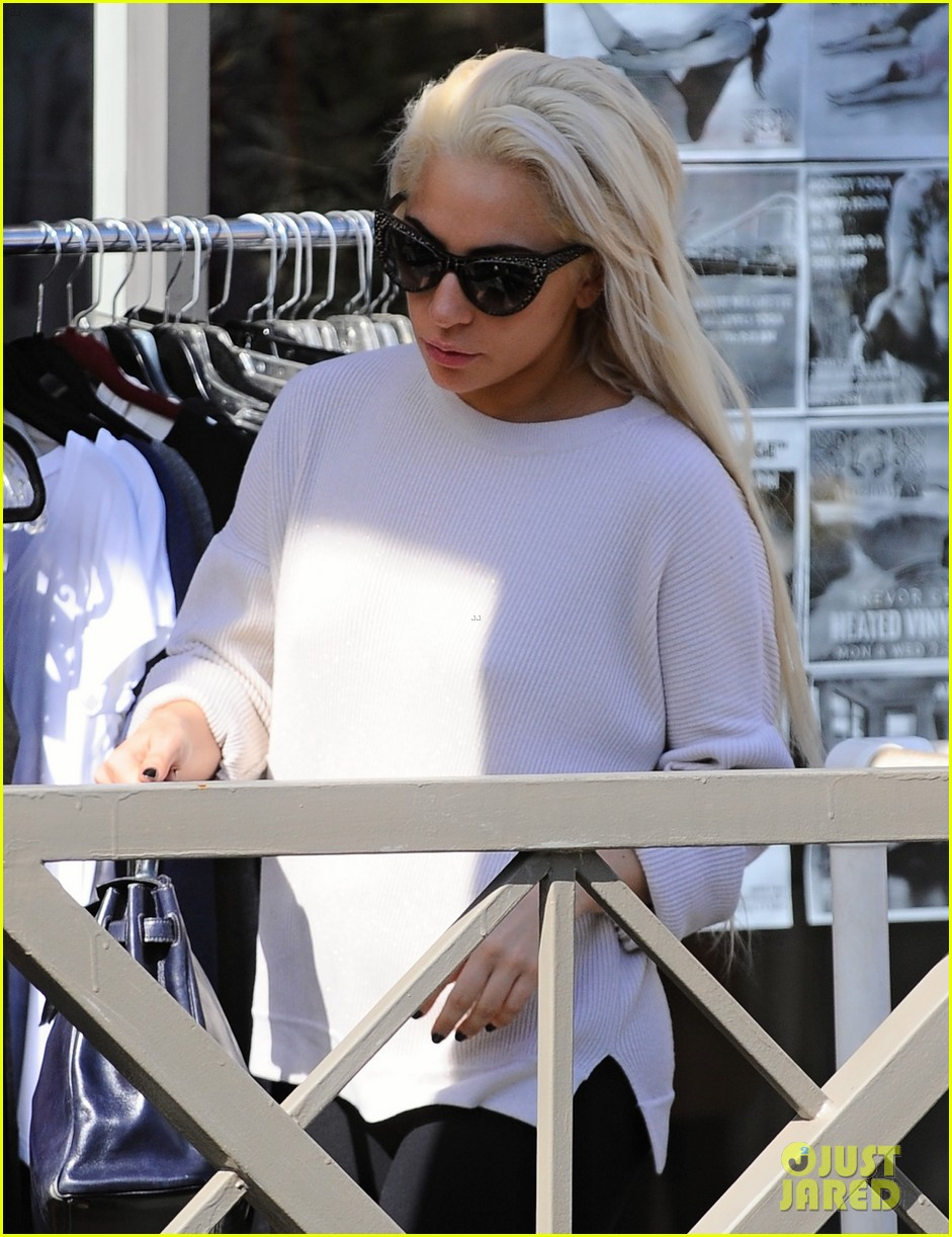 lady gaga emerges from a workout looking absolutely flawless 153865932