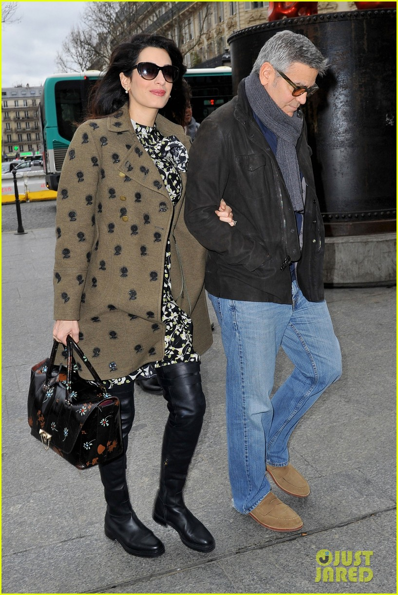 george clooney amal pregnant head to london after cesar awards 013866410