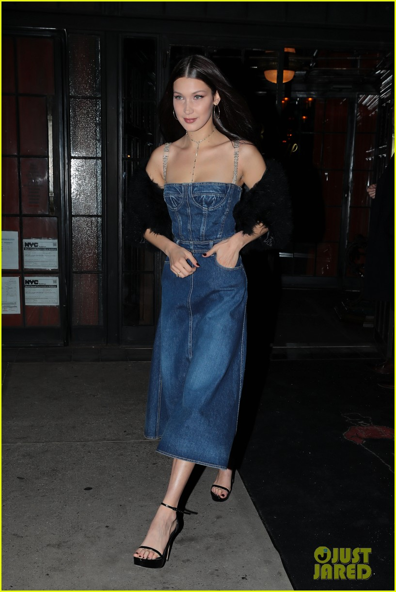 Bella Hadid Rocks Denim Dress While Out in NYC: Photo 3850953 ...