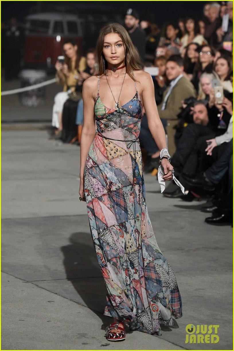 70f25c39de1d Gigi   Bella Hadid Lead Tommy Hilfiger s Spring Fashion Show!  Photo ...