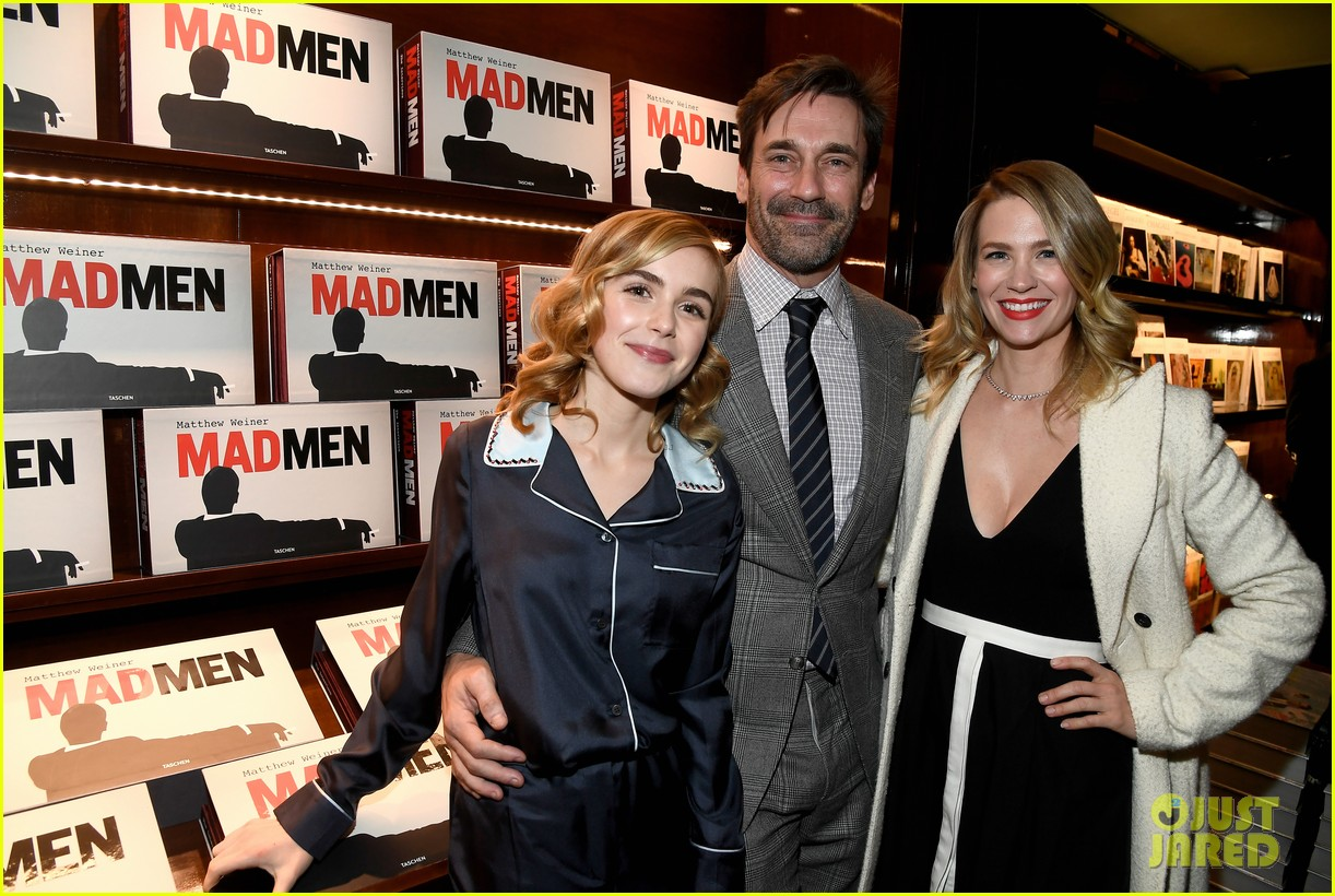 jon hamm january jones and christina hendricks make it a mad men reunion 053865327