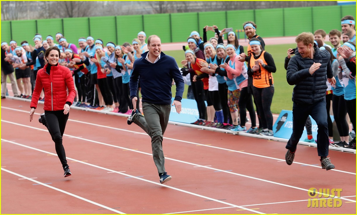prince harry william kate run track 063853352