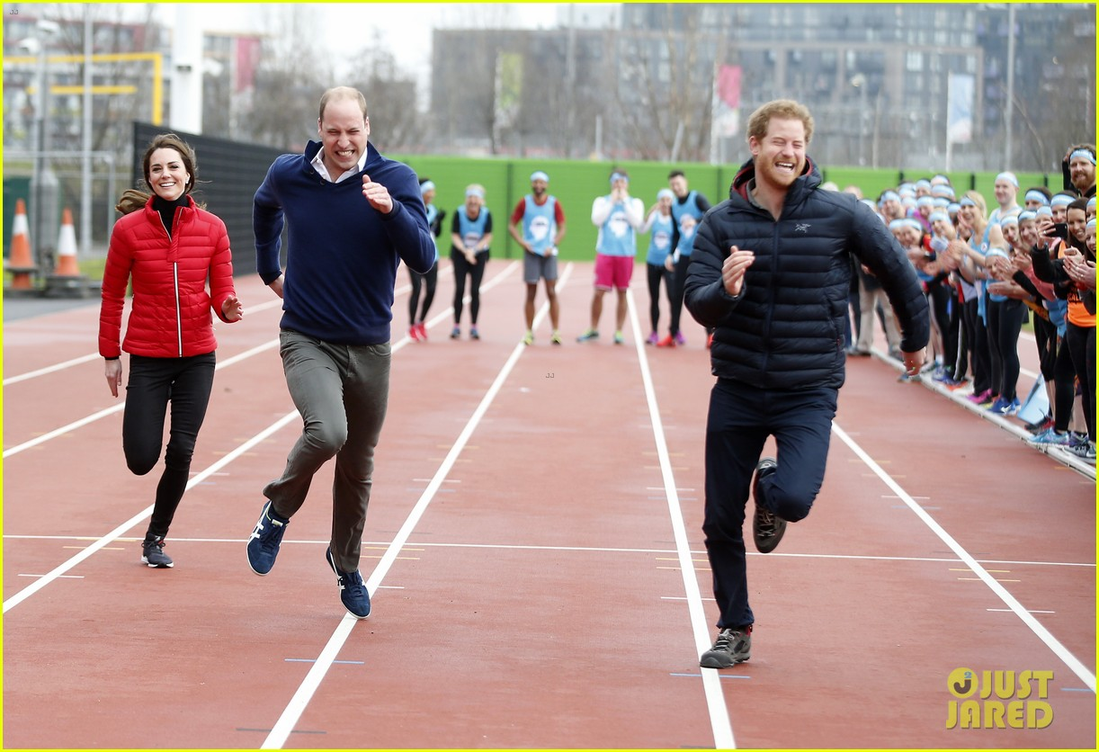 prince harry william kate run track 163853362