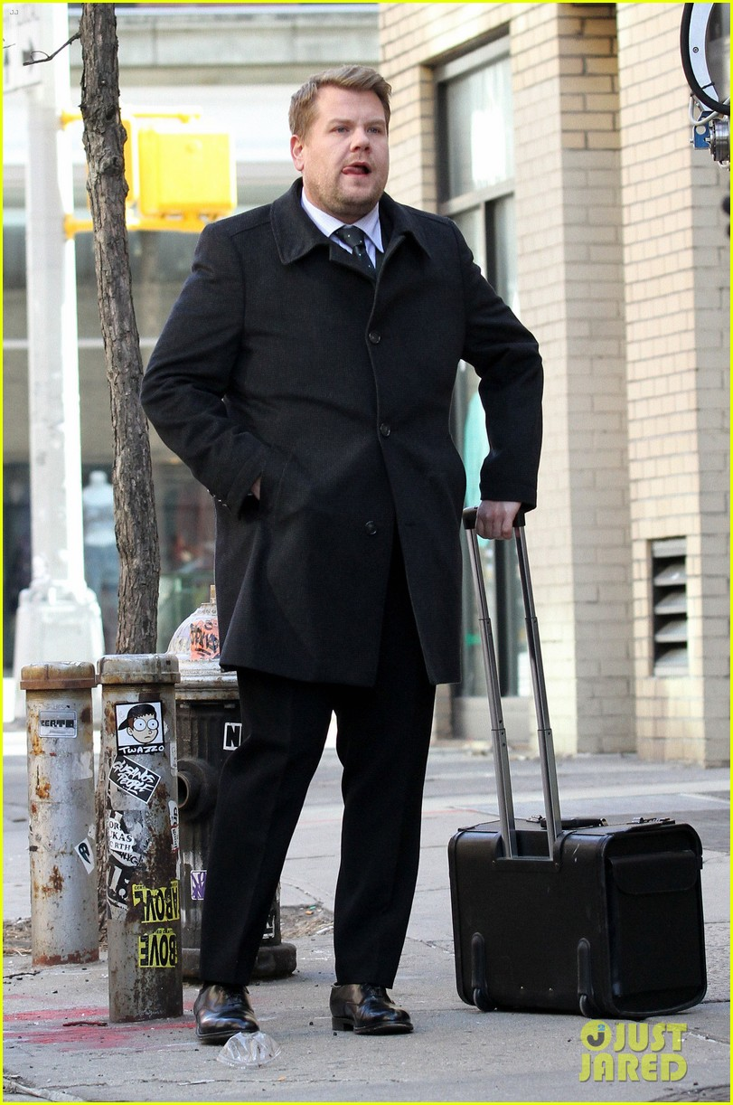 james corden films oceans eight cameo nyc 103851867