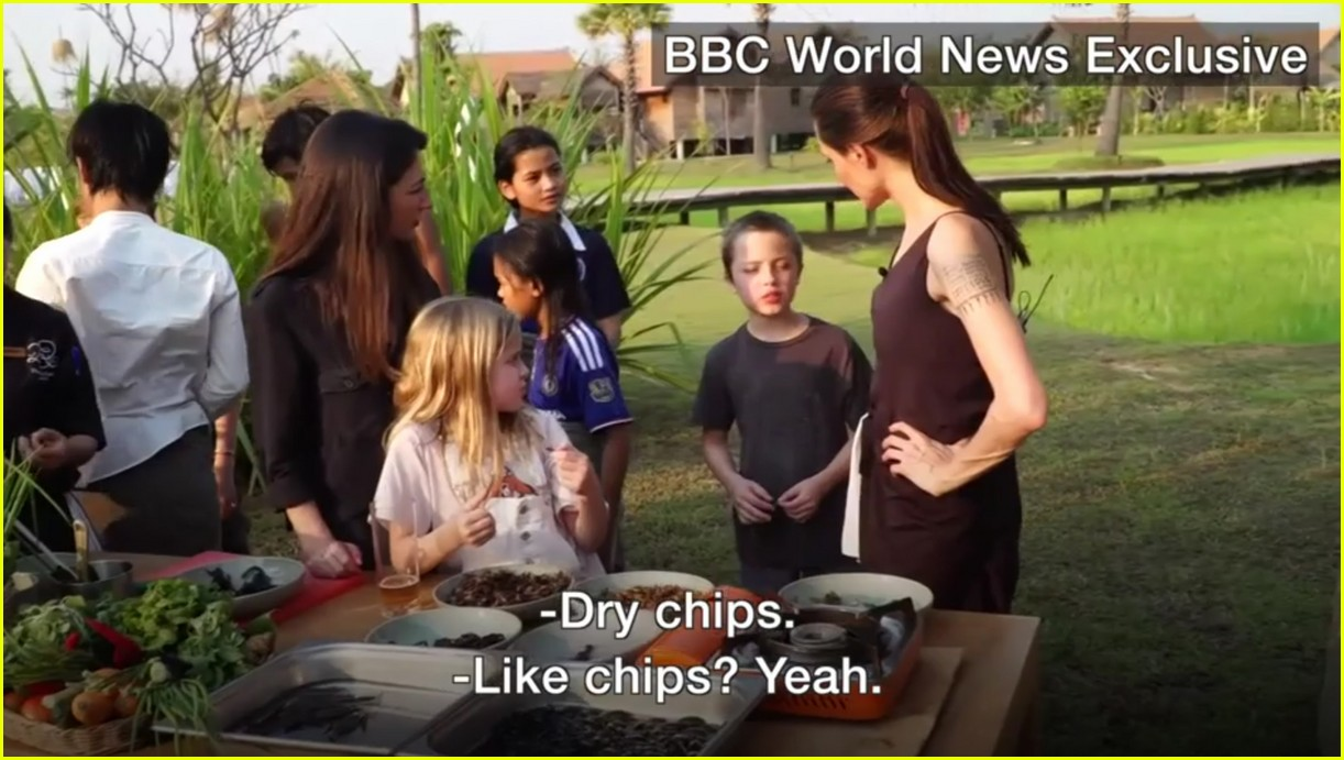 angelina jolie eats spiders insects with her kids 023862887