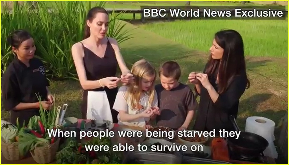 angelina jolie eats spiders insects with her kids 043862889