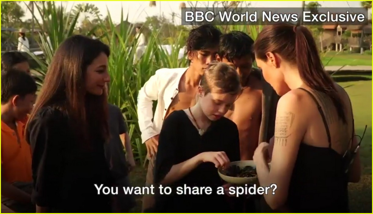 angelina jolie eats spiders insects with her kids 073862892