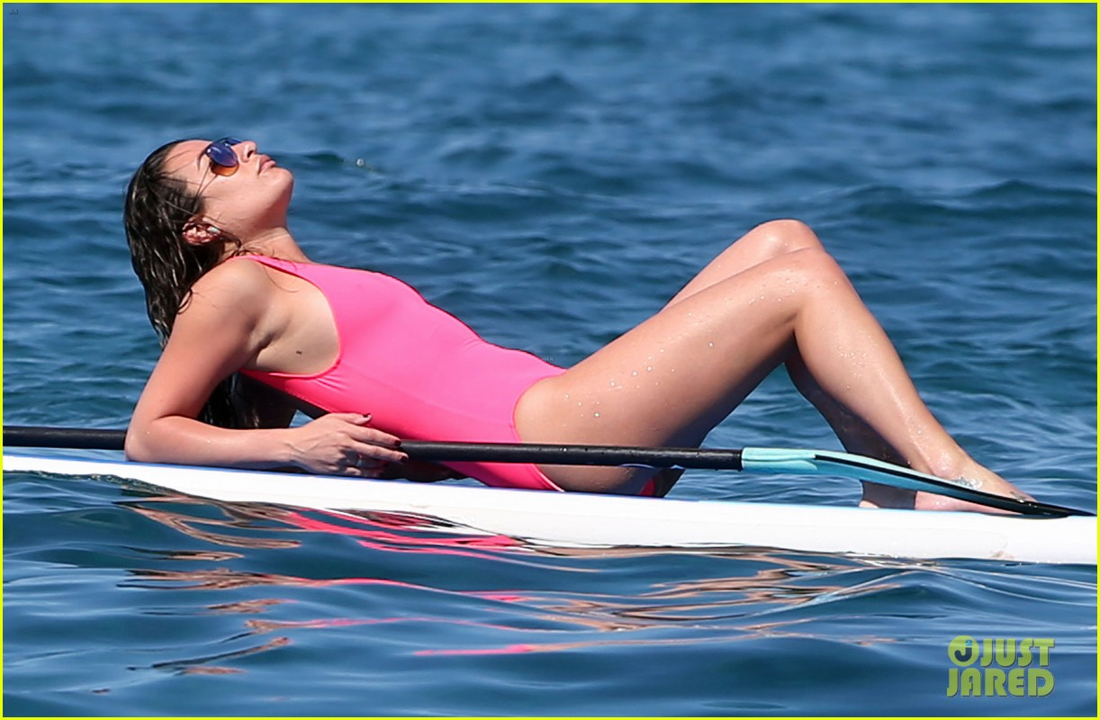 lea michele successfully does yoga on water 143864638