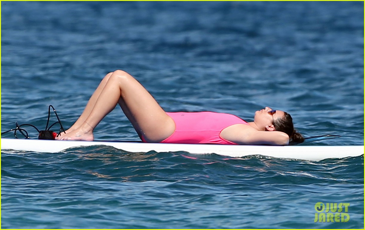 lea michele successfully does yoga on water 223864646