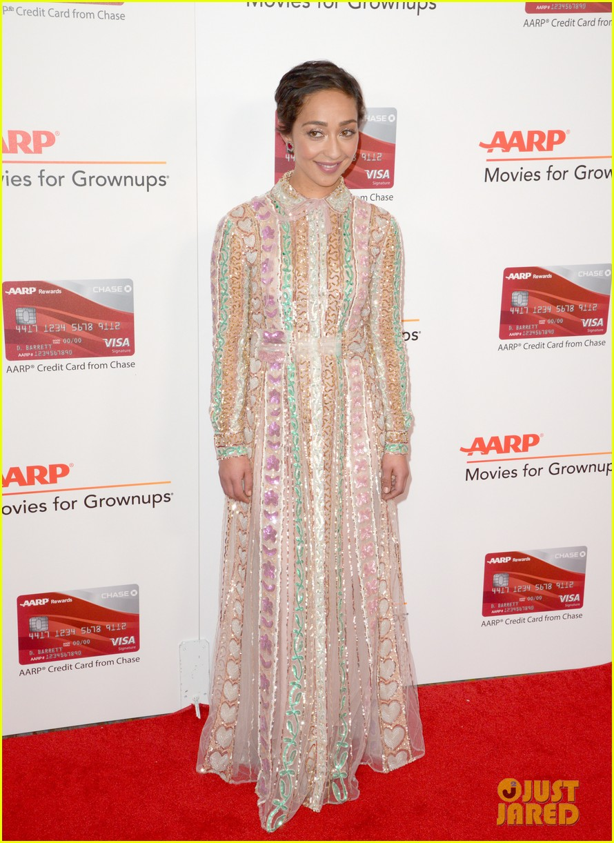 ruth neggas loving isabelle hupperts elle win big at aarps movies for grownups awards 093854688