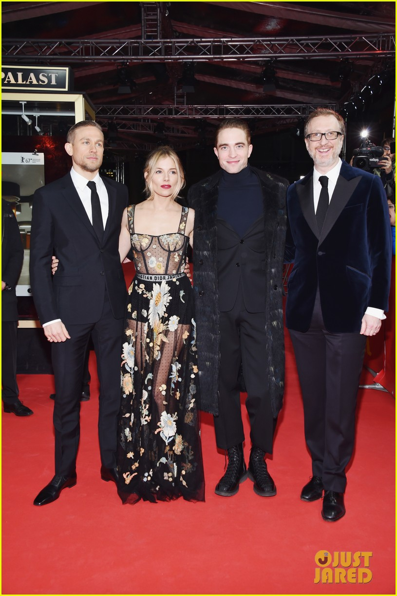 robert pattinson charlie hunnam sienna miller lost city of z berlin premiere 033860113