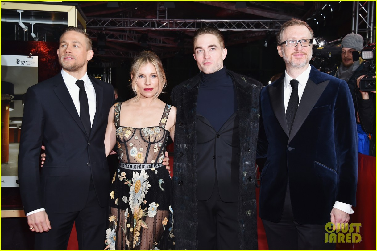 robert pattinson charlie hunnam sienna miller lost city of z berlin premiere 083860118