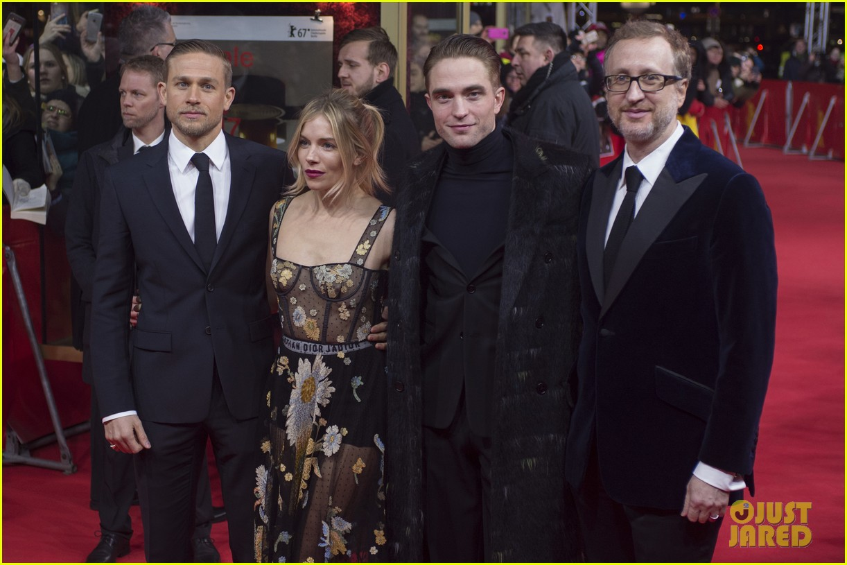 robert pattinson charlie hunnam sienna miller lost city of z berlin premiere 173860127