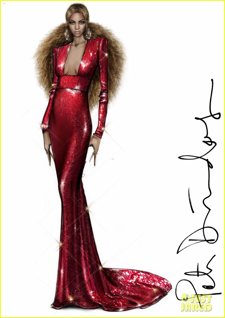Here Are Peter Dundas Sketches Of Beyonce S Grammys 2017 Outfits Photo 3858871 2017 Grammys Beyonce Knowles Grammys Peter Dundas Pregnant Celebrities Pictures Just Jared