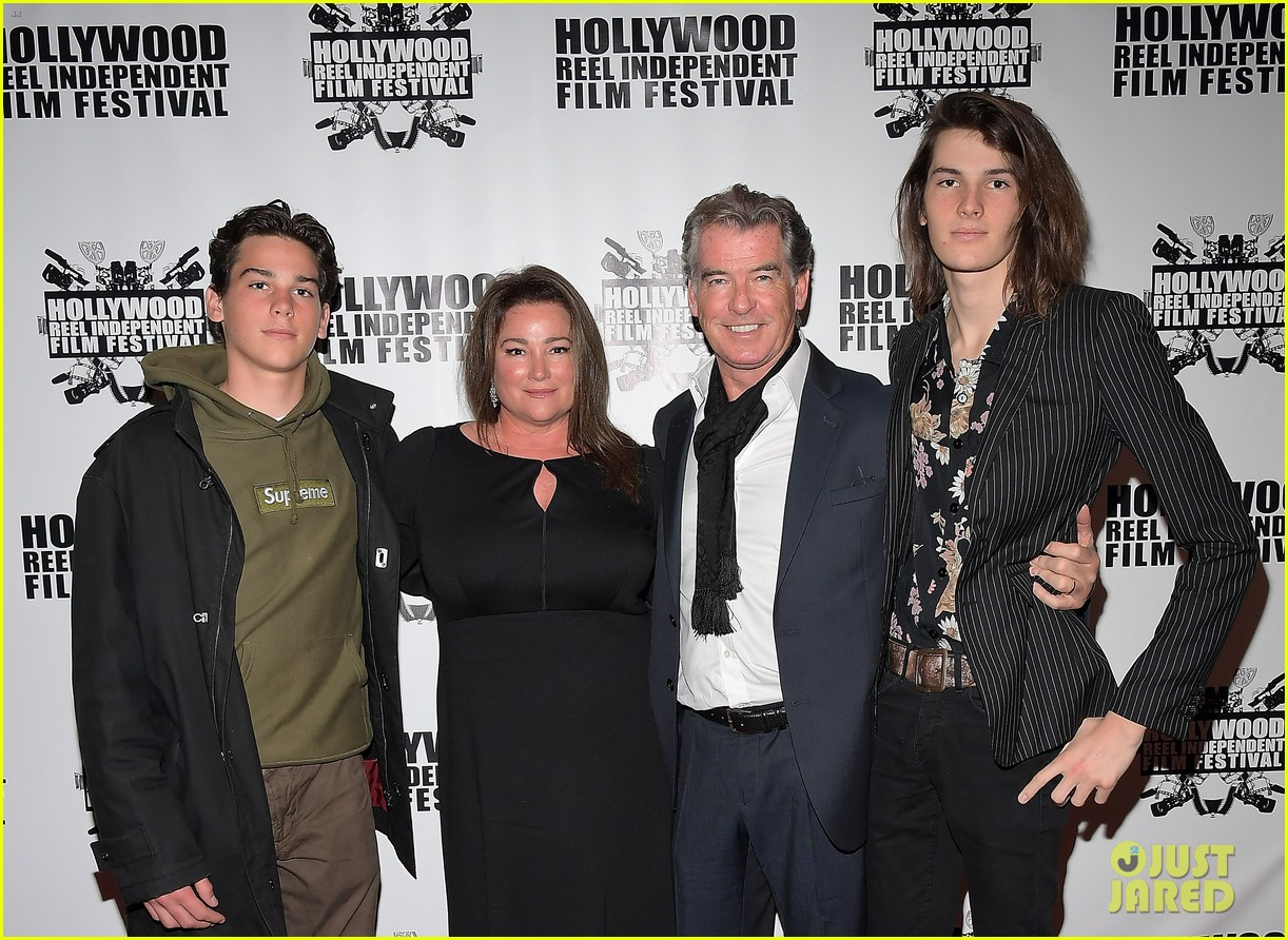 pierce brosnan brings the whole family to hollywood reel independent film fest 023862086