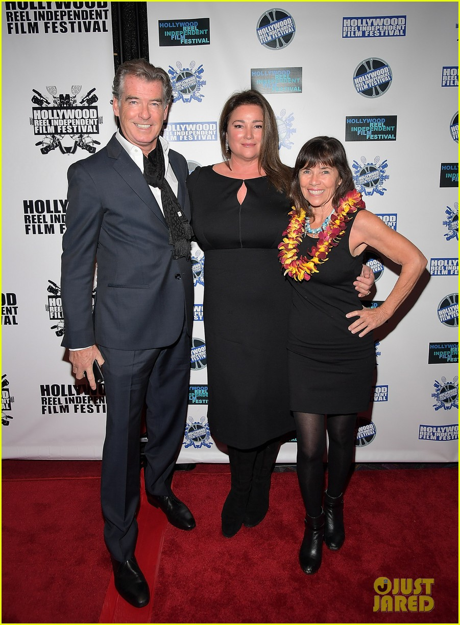 pierce brosnan brings the whole family to hollywood reel independent film fest 033862087