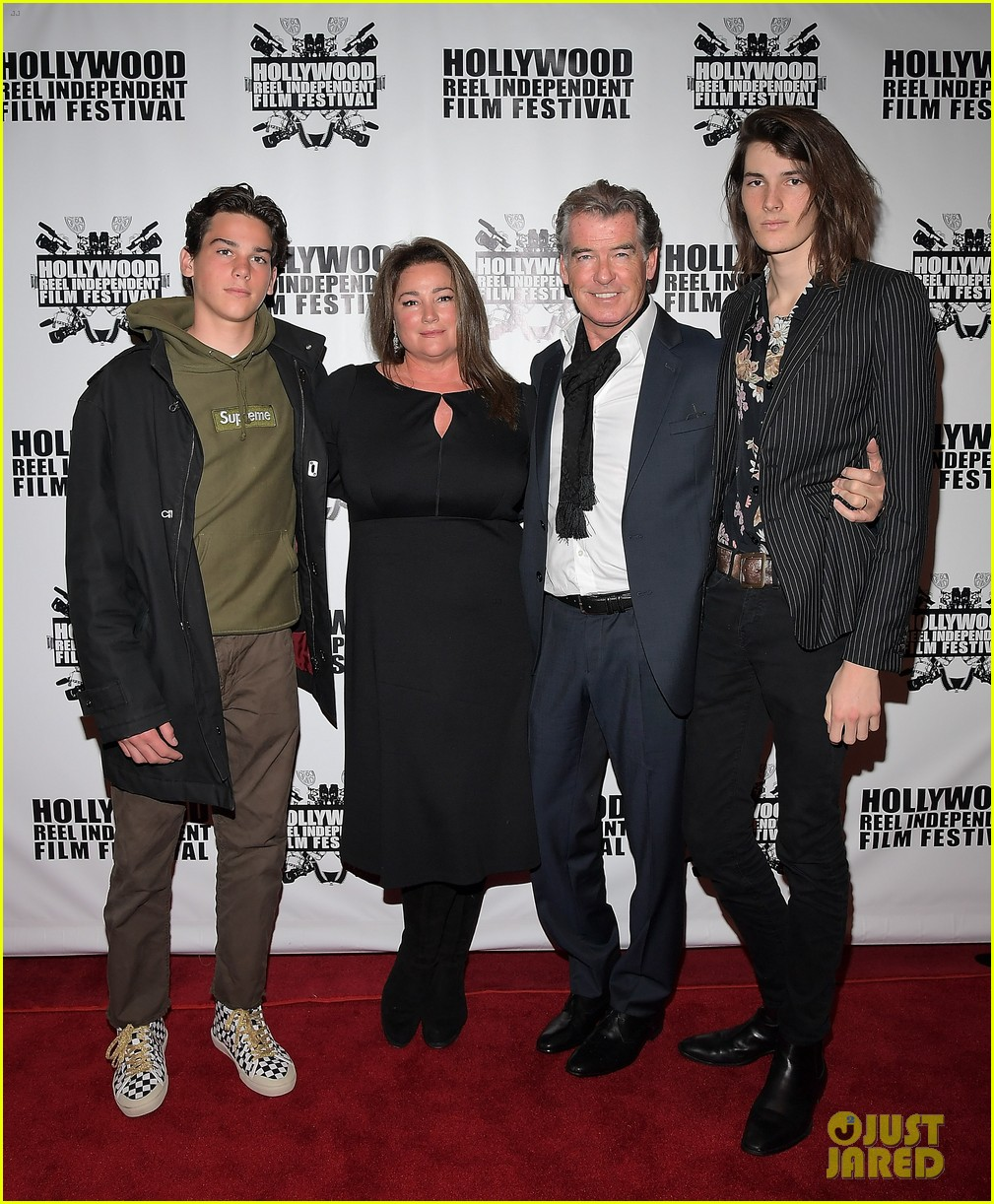 pierce brosnan brings the whole family to hollywood reel independent film fest 053862089