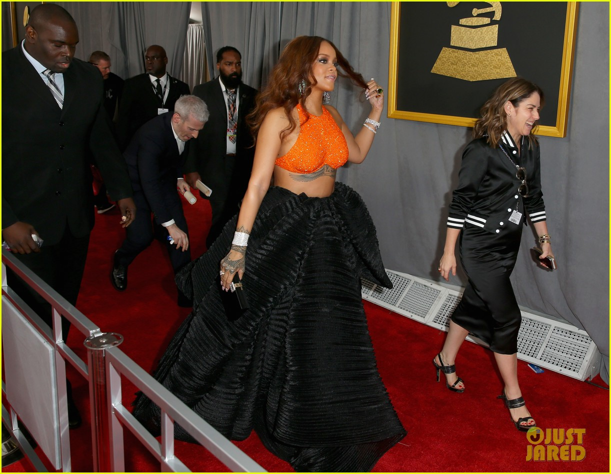 rihanna grammys 2017 red carpet 183858407