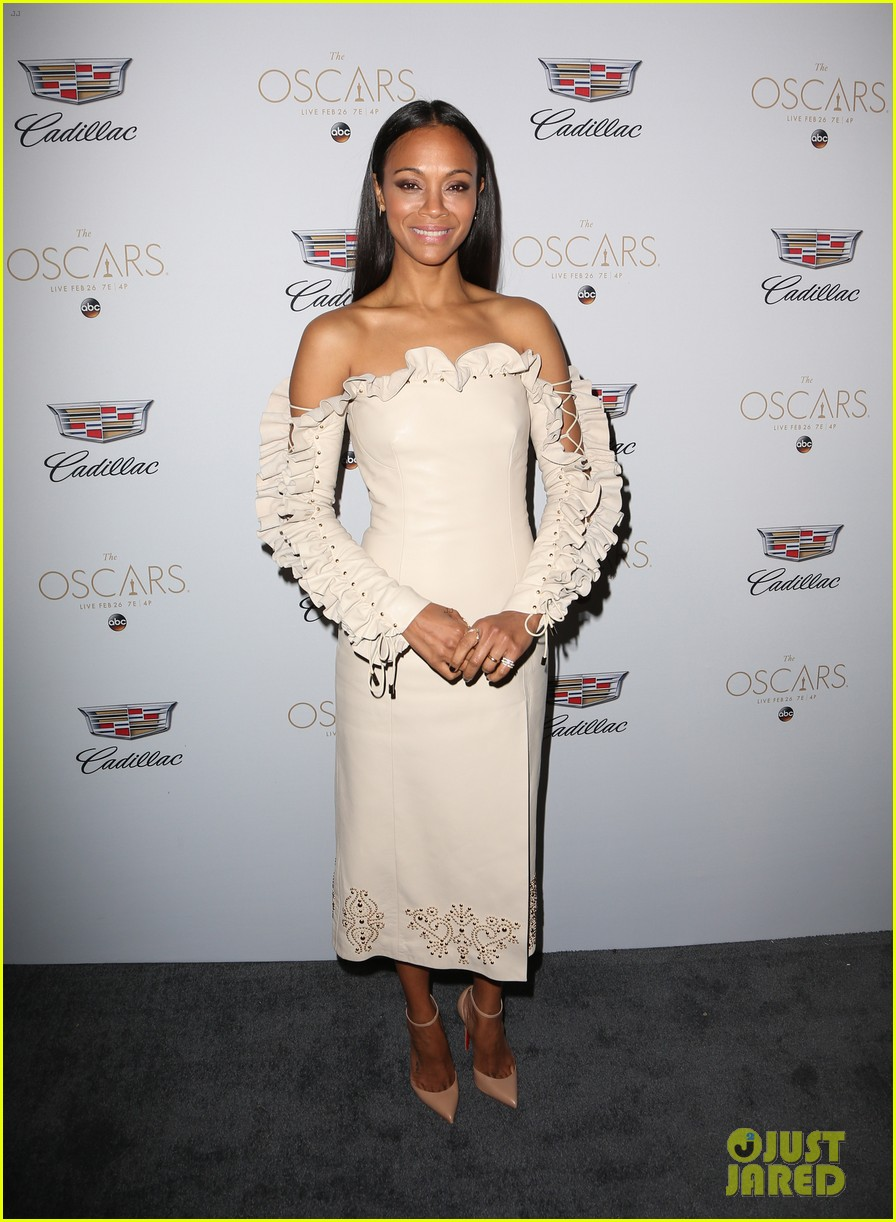 zoe saldana cadillac oscars party 013864906