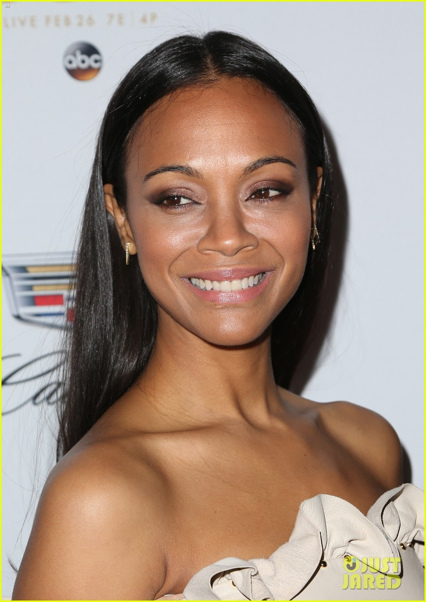 zoe saldana cadillac oscars party 143864919