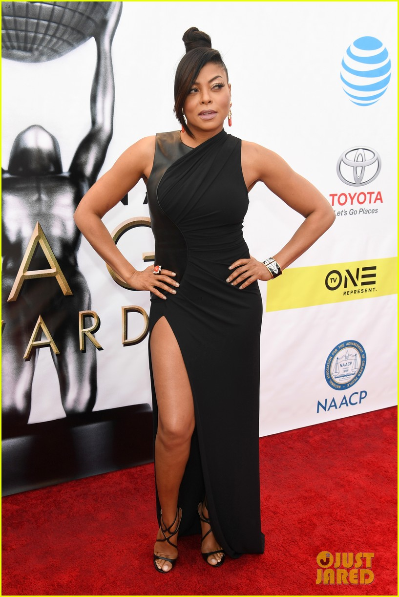taraji terrence arrive in style at naacp awards 013857549