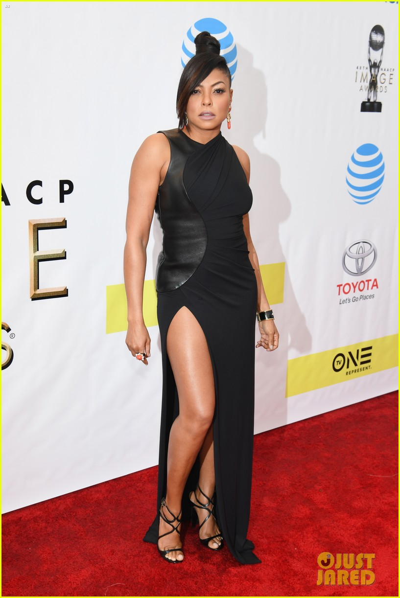 taraji terrence arrive in style at naacp awards 093857557