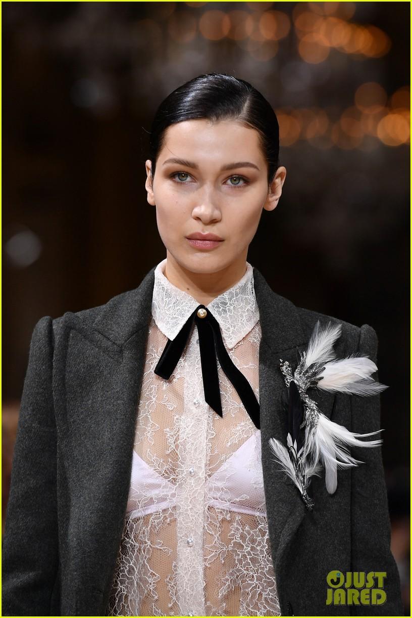 bella joan suit up for lanvin paris fashion show 013868791