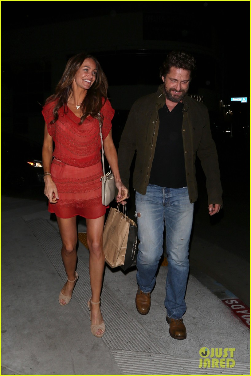 gerard butler morgan brown all smiles on date night 023880433