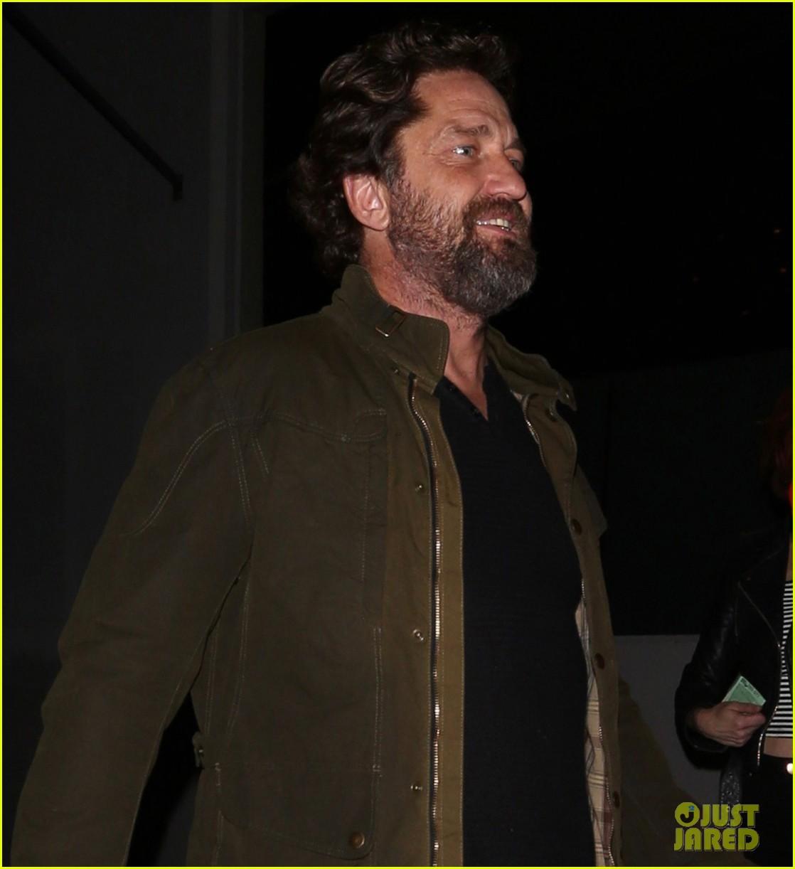 gerard butler morgan brown all smiles on date night 053880436