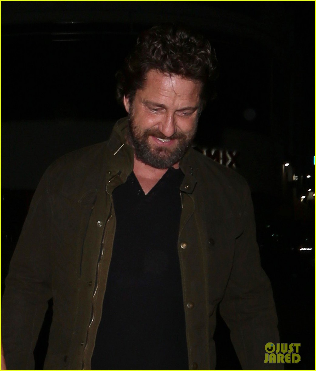 gerard butler morgan brown all smiles on date night 063880437