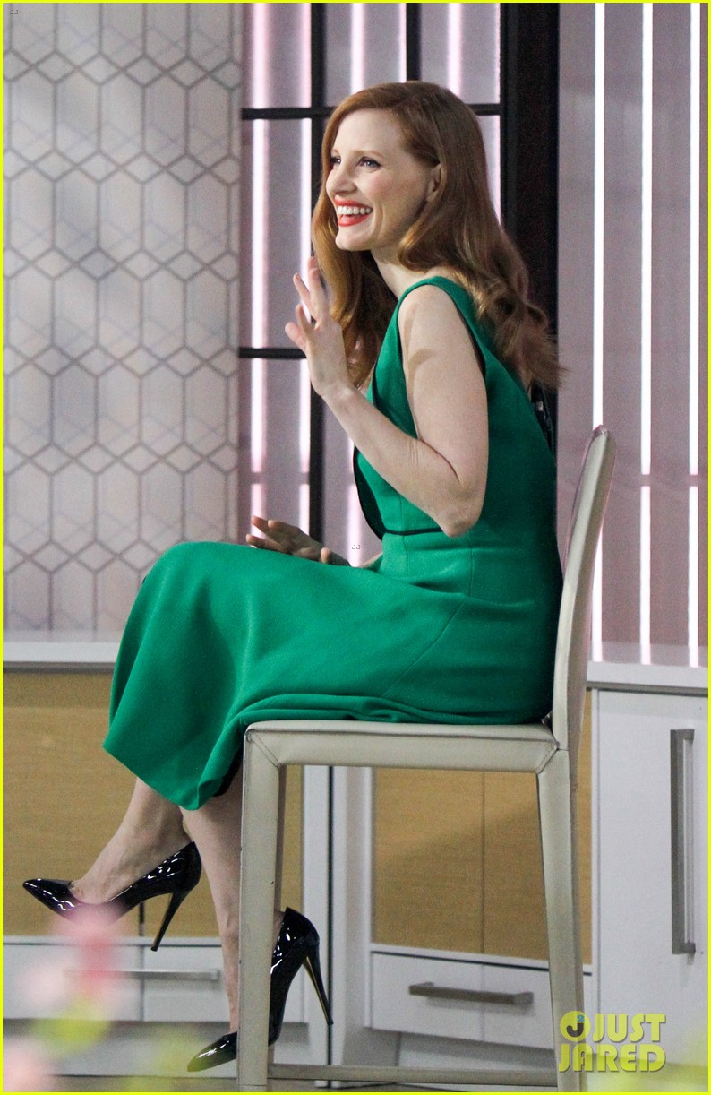 jessica chastain today show green dress 023876611