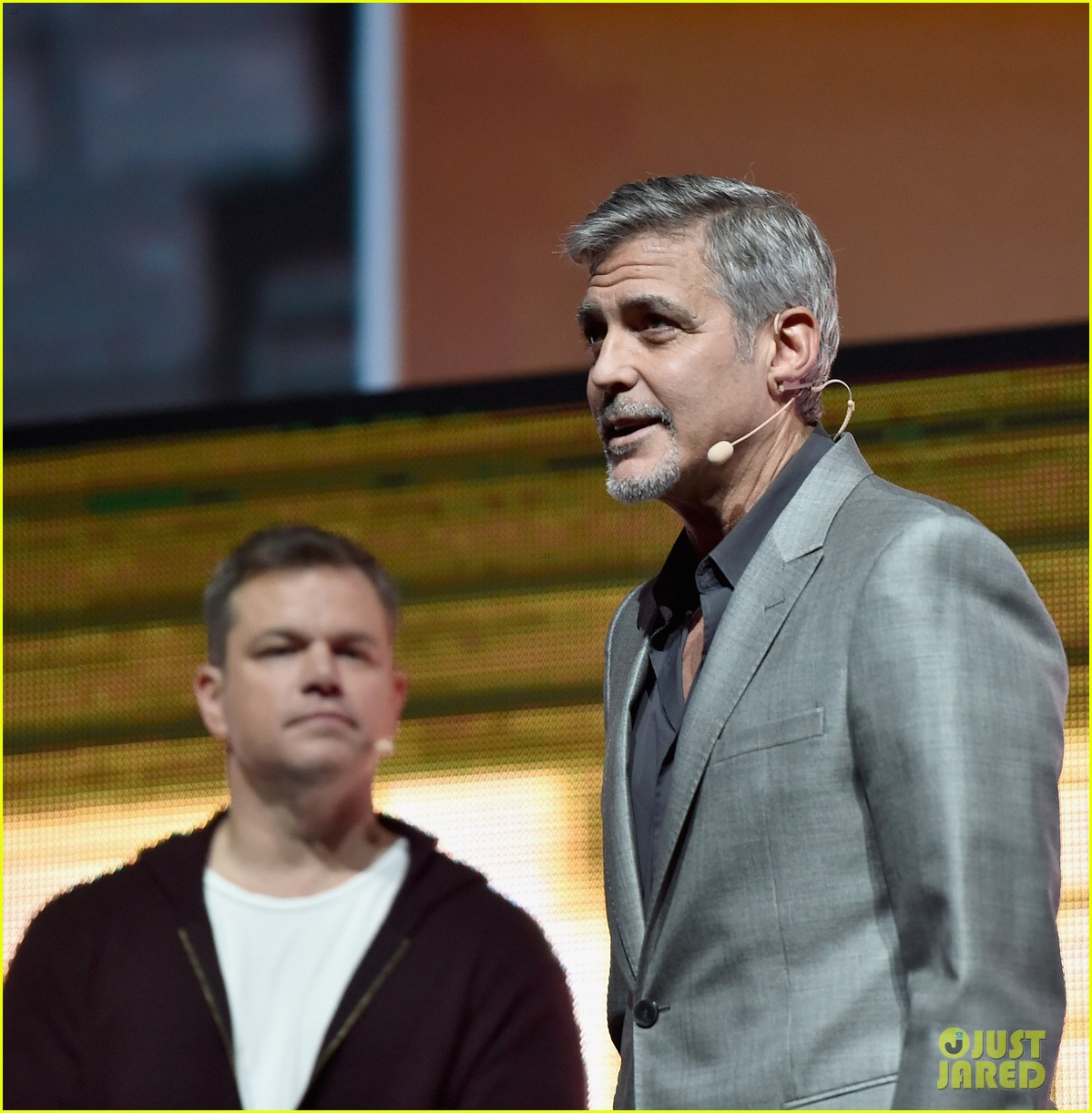 George Clooney at CinemaCon presenting Suburbicon George-clooney-julianne-moore-matt-damon-cinemacon-2017-02