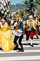 james corden dan stevens luke evans josh gad perform crosswalk version of beauty the beast  03