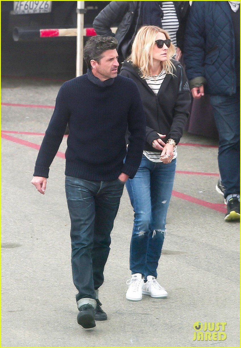 patrick dempsey wife jillian pack on the pda 053874647
