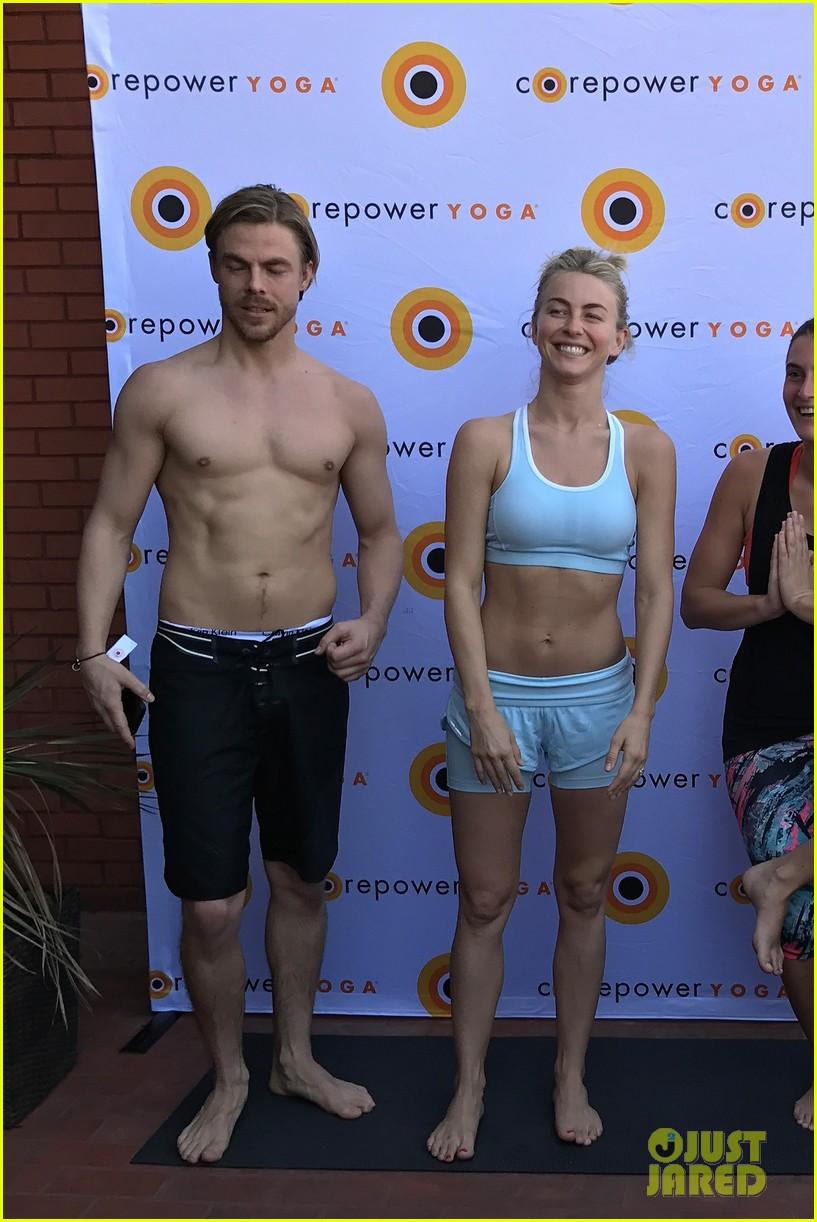 derek hough shirtless yoga julianne 033872962
