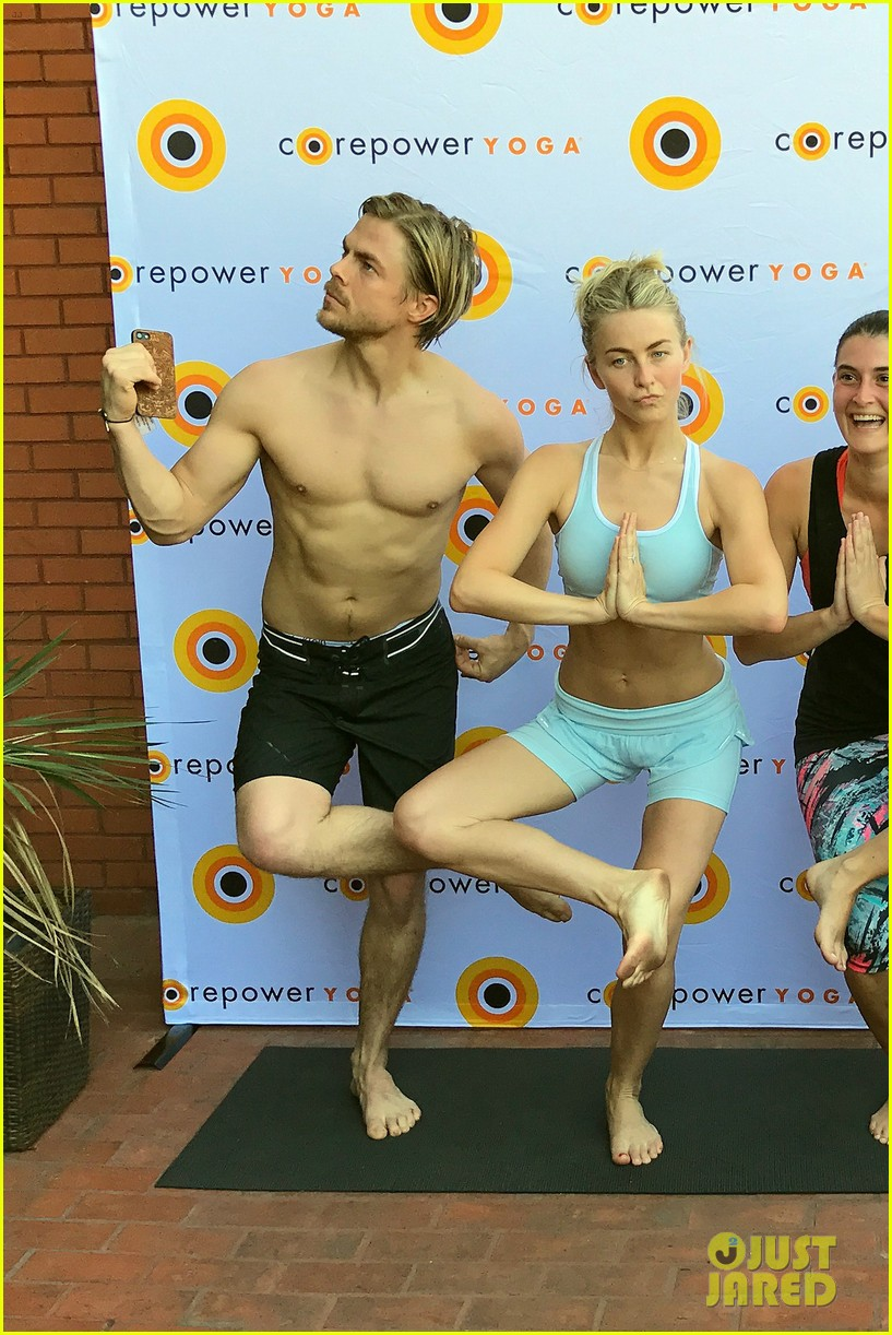 derek hough shirtless yoga julianne 053872964