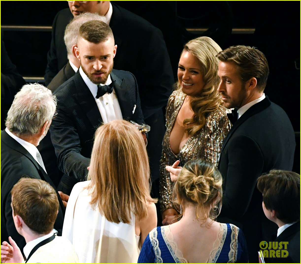 ryan gosling and justin timberlake had a mickey mouse club reunion at oscars 2017 043869677